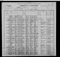 Image of Emert Snuffer in household of Thomas Snuffer, United States Census, 1900