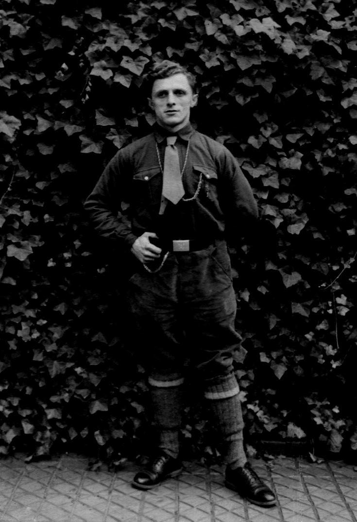 Otto Johannes Doelling as a scoutmaster in Germany 1927