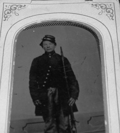 Civil War Solder Nelson Tino.