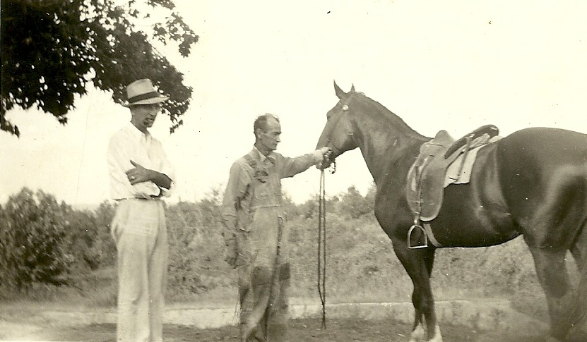 Clarence Pete Belt with prize horse