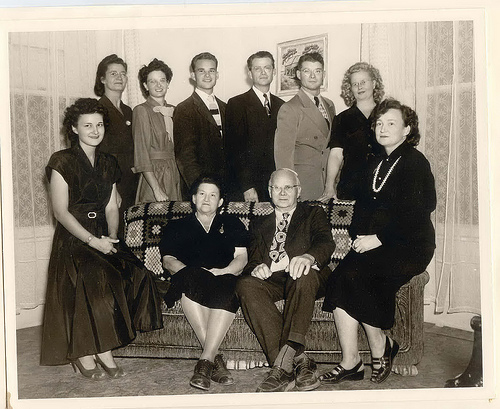 Clarence and Ethel Davis family