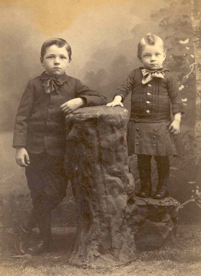 Charles Robert and Perry William Hawkins (ca. 1889)