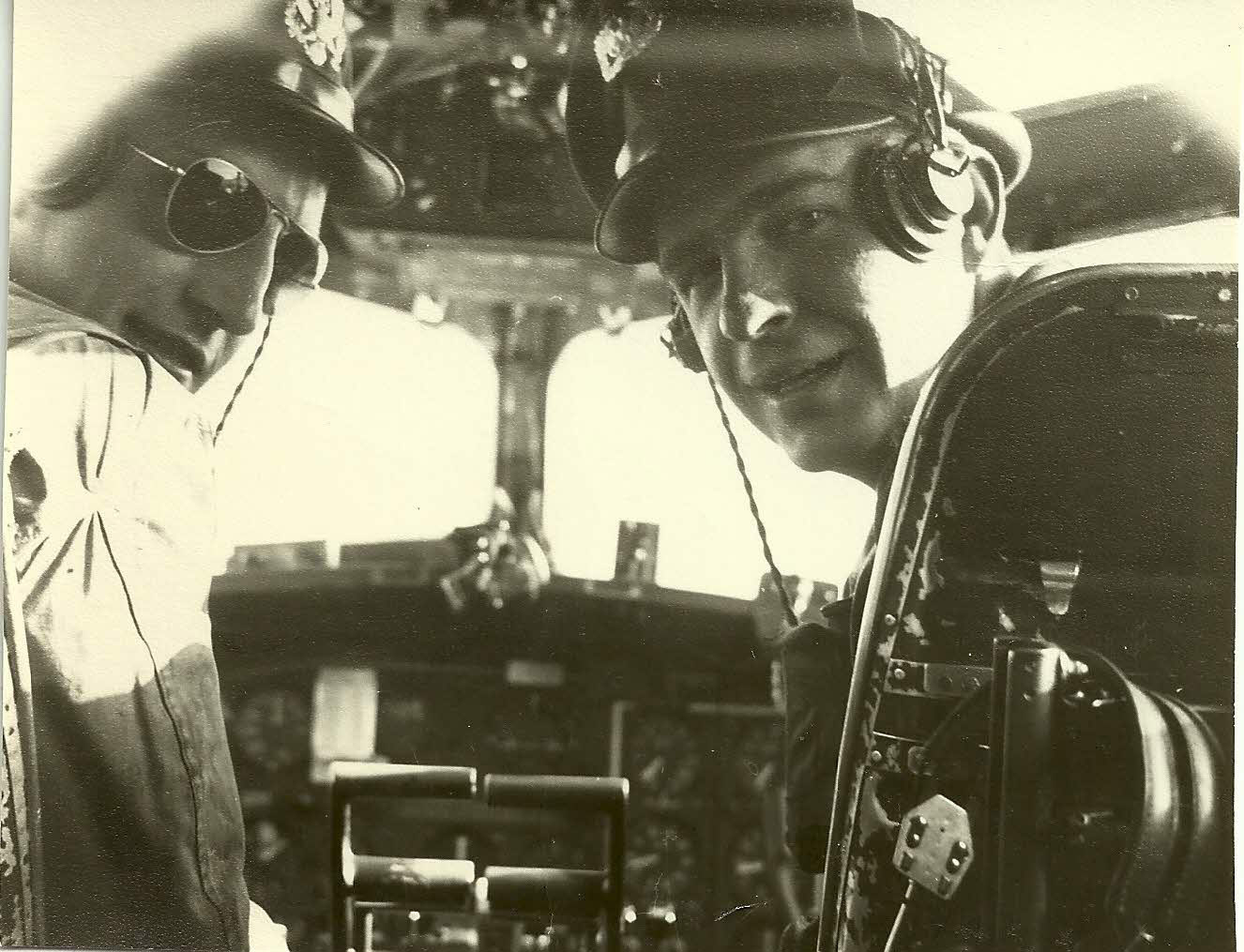 Dad as a pilot in the service.