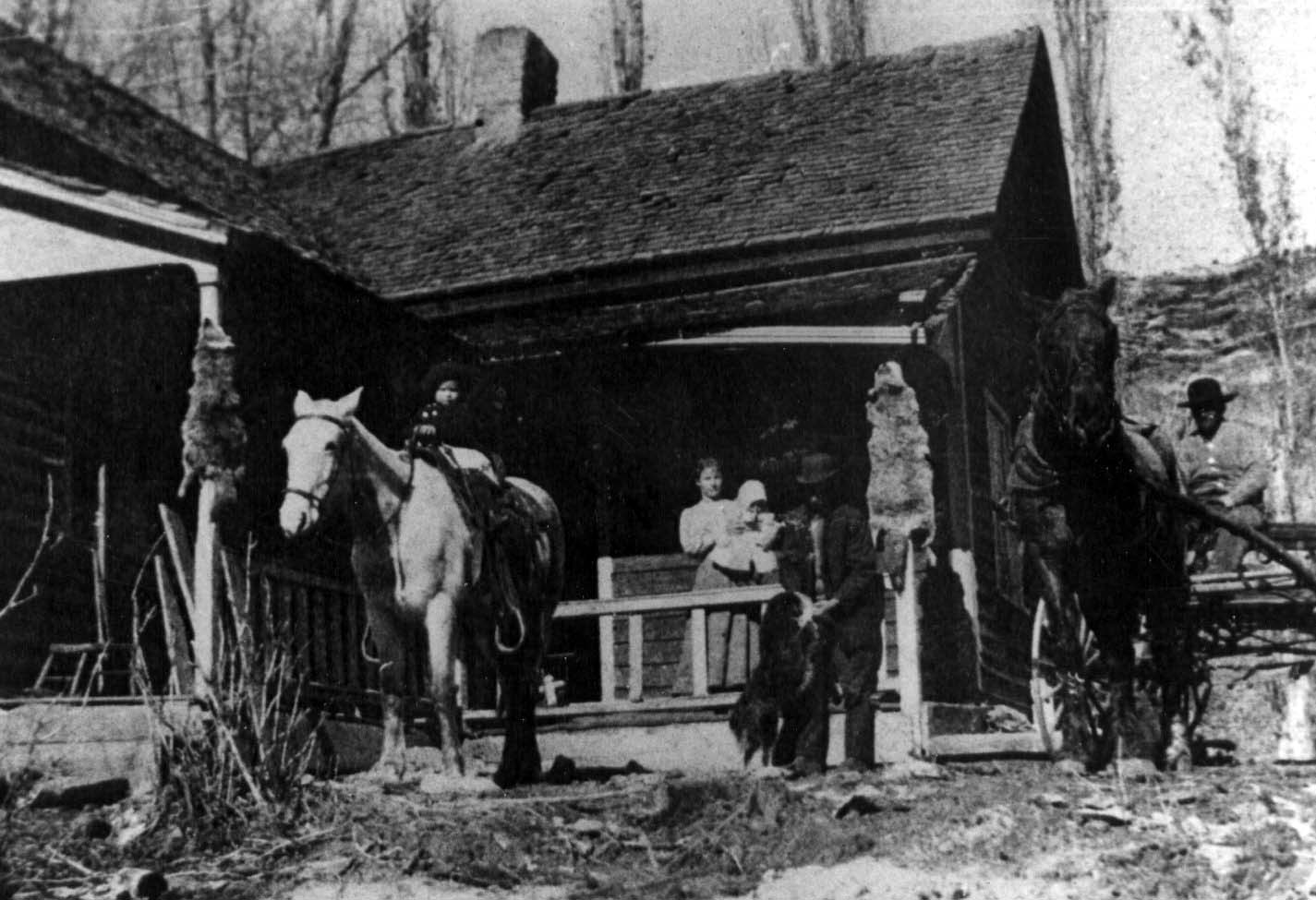 Life on the Floral Ranch after Ephraim's Death. Photo from Teton Hanks Jackman collection.