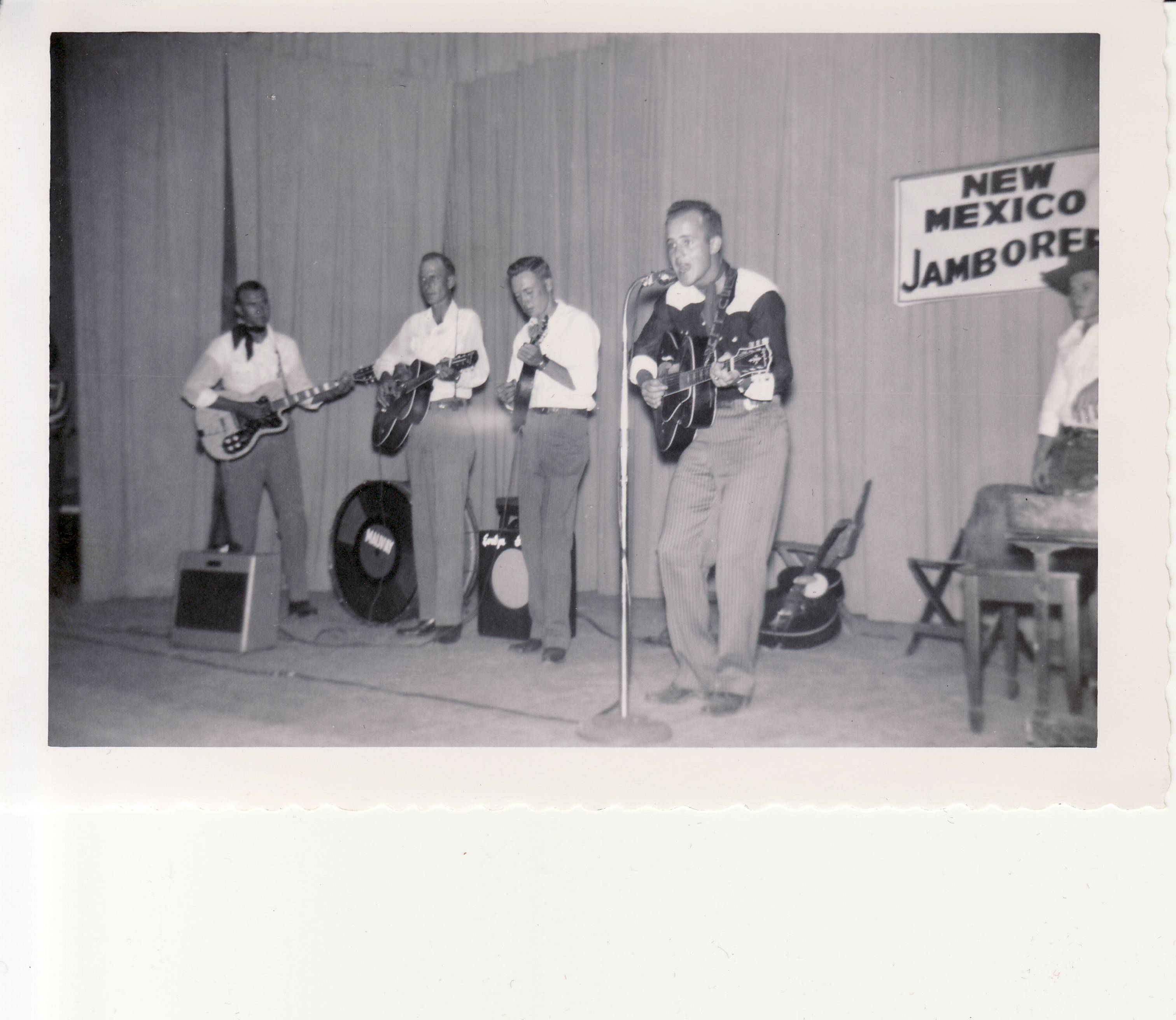 George Sullivan performing at a New Mexico county fair, circa 1952