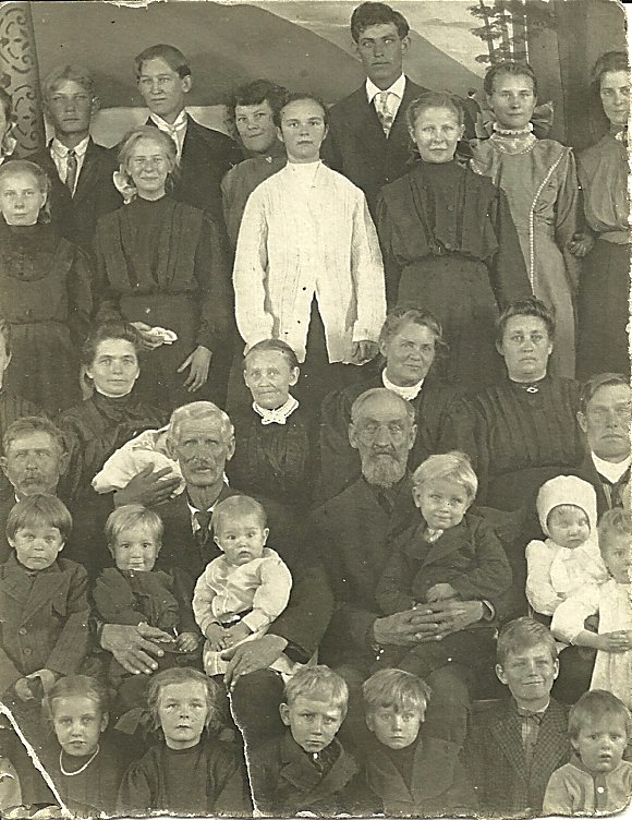 Niels Louis Christensen with Family
