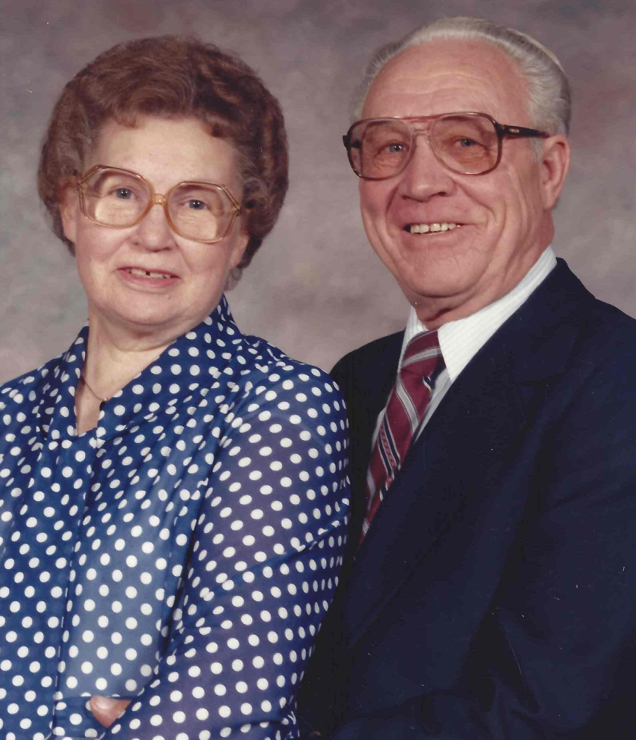 Arzley and LaMar Losser - January 1985