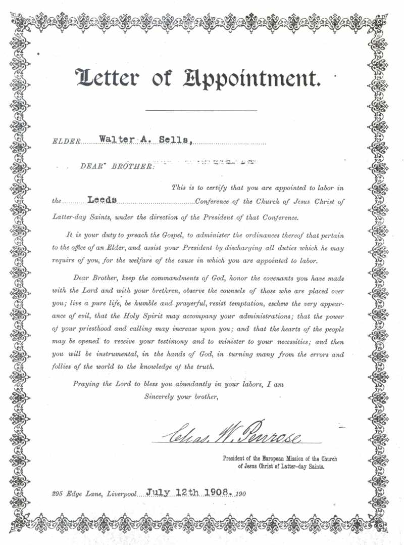missionary letter of appointment for walter alma sells photos missionary letter of appointment for walter alma sells